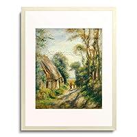 ピエール=オーギュスト・ルノワール Pierre-Auguste Renoir 「The Outskirts of Berneval.」 額装アート作品