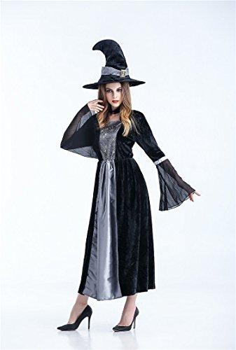 (Lulu LAB) 魔女 ウィッチ コスチューム レディース とんがり帽子付 コスプレ ハロウィン