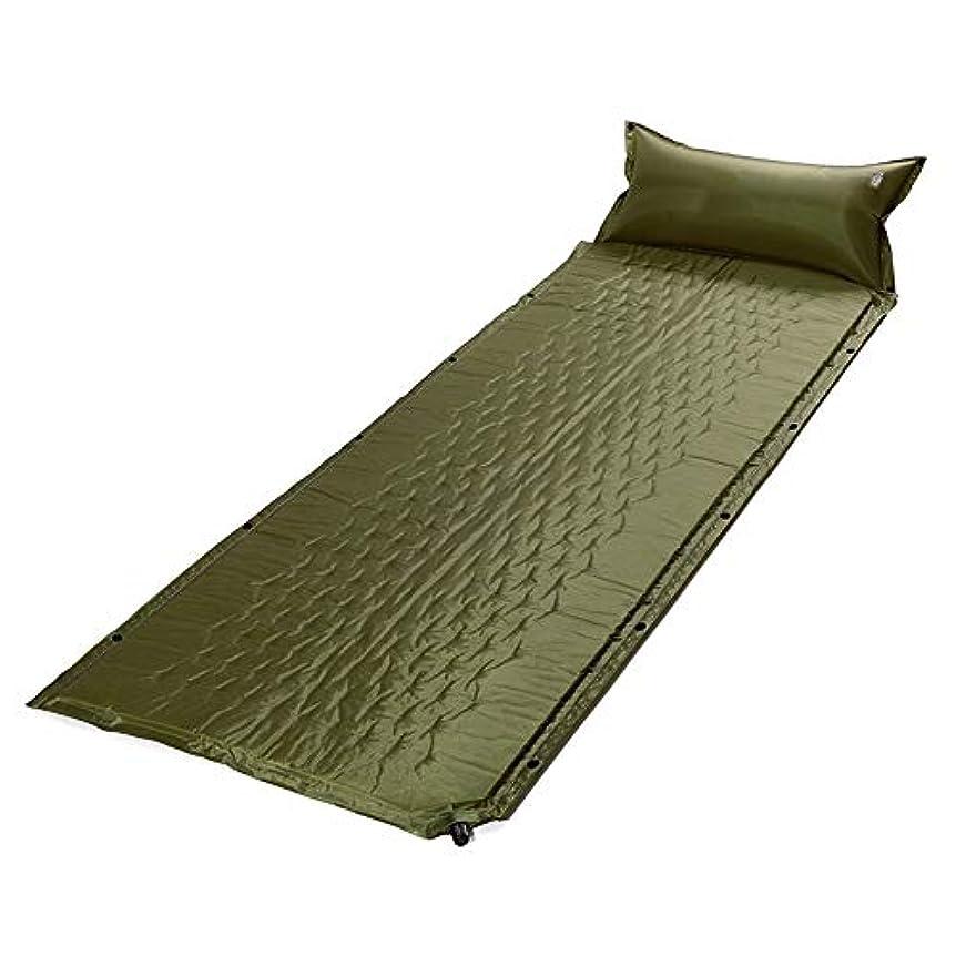 ラリー地図項目寝袋キルト3シーズンキャンプブッシュ屋外屋外 屋外の単一の自動膨脹可能なクッションは寝ているマットマットキャンプテント防湿クッションを継ぎ合わせることができます さまざまな色とサイズで利用可能 (色 : 緑)