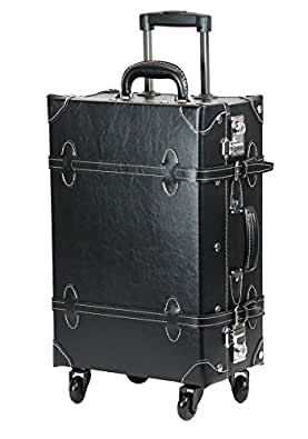 【MOIERG】キャリーバッグ プレーン TSA キャリーケース 4輪 軽量(L, クロ)[81-55040-10]