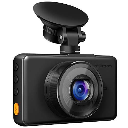 APEMAN ドライブレコーダー 1080PフルHD DVR車用ドライブレコーダー 3 インチスクリーン 170°広角 Gセンサー動き検知 WDR 駐車モニター ループ録画 常時録画 車載カメラ