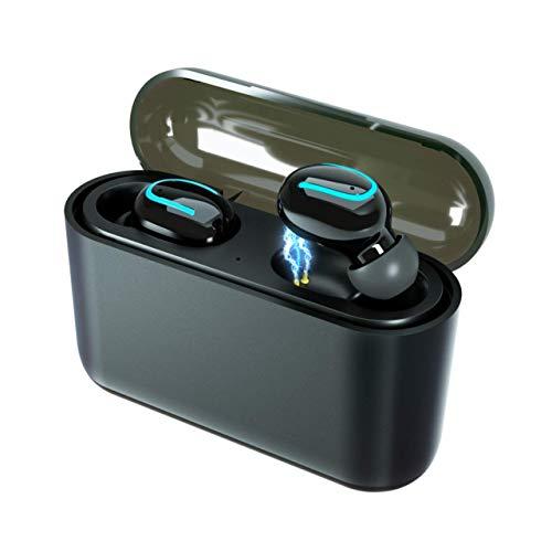 【2019最新版】Bluetooth イヤホン 完全 ワイヤレス イヤホン スポーツ ブルートゥース ヘッドホン 極軽 バッテリー超大容量 Hi-Fi高音質 3Dステレオノイズリダクション内臓マイクBluetooth 5.0+EDR搭載 自動ブートアップ/自動ペアリング 左/右単独型 イヤホン 片耳/両耳モードiPhone/ iPad /Android互換 日本語通知音声技適認証に合格