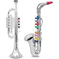 マーチングバンド おもちゃ 楽器 サックス トランペット 2種セット【並_行_輸_入_品】