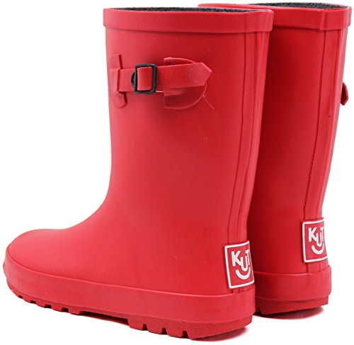 (ノーブランド品) 長靴 キッズ ジュニア レインブーツ 男の子 女の子 子供長靴 22cm【即納】 【20.レッド】