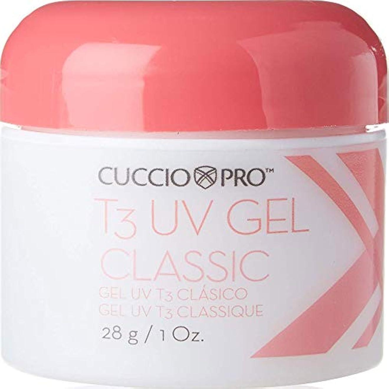 闘争公平凍るCuccio Pro T3 UV Gel Classic Pink for High Shine Natural and Artificial Nails 28g
