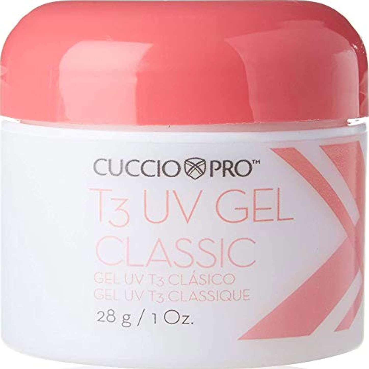 Cuccio Pro T3 UV Gel Classic Pink for High Shine Natural and Artificial Nails 28g