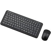 エレコム ワイヤレスキーボード 静音タイプ メンブレン式 コンパクト マウス付 ブラック TK-FDM078MBK
