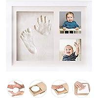 手形 赤ちゃん Gssuccess、ベビーフレーム 手形 足形 フォトフレーム 、安全粘土 手形足形キット 出産祝い 内祝い ベビー記念品 置き掛け兼用