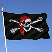 inverlee 3 x 5 ft海賊旗Calico Balloweenジョリーロジャースカル国旗ポリエステル旗バナー