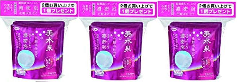 破産一致する弱い美水泉 手作り美容石けんお得な3個入り ×3 (9個入り!)