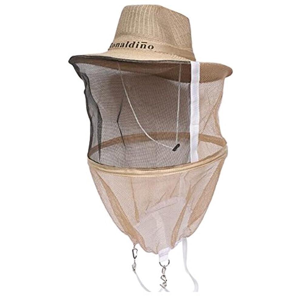 くつろぎ倒錯どうしたのネット付き帽子 虫除けハット 蚊対策 蜂防止 保護 農作業用 紫外線対策 防虫 帽子 園芸