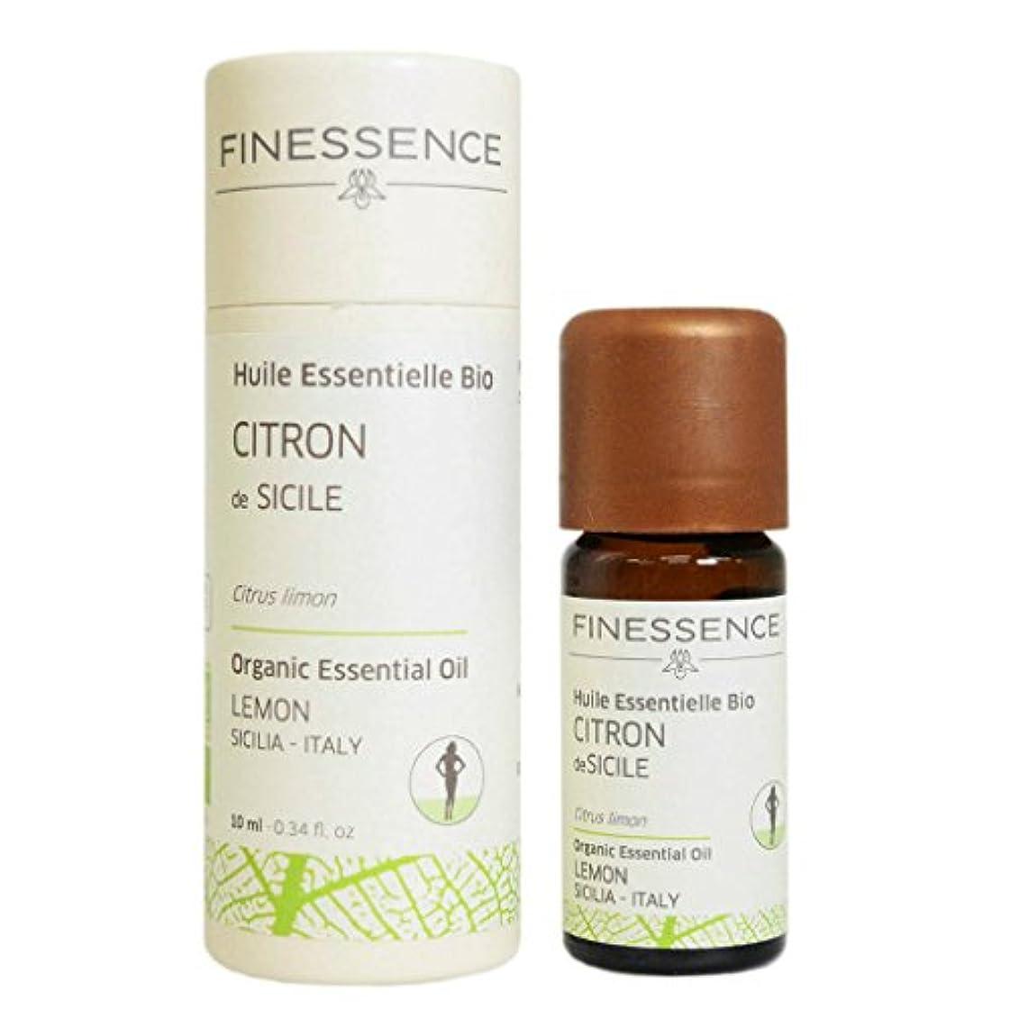有彩色のに向かって蜂フィネッサンス (FINESSENCE) オーガニックエッセンシャルオイル レモン 10ml