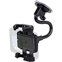 Scosche Stuckup Universal Window and Vent Mounting Kit for Cell Phones and GPS, Black (Renewed)