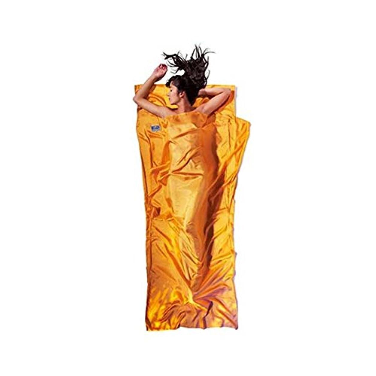 環境に優しいコンプリート出費コクーン トラベルシーツ シルク サンセットオレンジ12550001005000