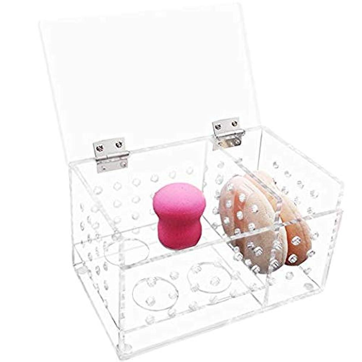 反毒セットアップバスタブチヤミ メークボックス 化粧品収納ボックス コスメスタンド メイクスポンジ収納ボックス パフ収納 L