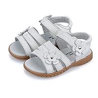 MIGO KIDS Girls Genuine Leather First Walkers Flower Open Toe Sandals (Toddler/Little Kid)