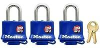 マスターロック1–9/ 16インチラミネートPadlocks withブルー熱可塑性シェル、3- Pack # 312tri