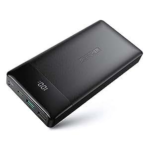 RAVPower モバイルバッテリー 20000mAh【USB C入出力/18W急速充電/PD3.0対応/QC3.0対応/MFiとPSE認証】大容量 LCD残量表示 iPhone/iPad/Android/Type-C機種等対応 RP-PB172