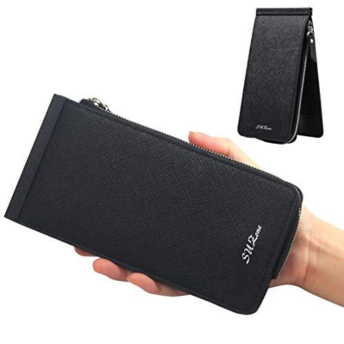 カードケース 薄型 大容量 長財布 三つ折り 男女兼用 小銭...