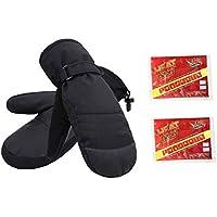 ThunderCloud Women's Alpine Ski Mittens with Handwarmer Pocket (Includes 2 Heat Packs)