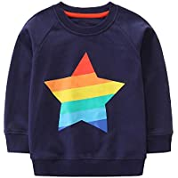 Bumeex Little Boys Cotton Cute Crew Neck Long Sleeve Sweatshirt