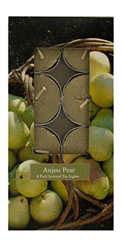 キャメルピック豊かなMVP 87765 Anjou Pear 8 Pack Scented Tea Light Candles - 8 Packs