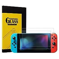 KetenTech Nintendo Switch フィルム 任天堂ニンテンドースイッチ ガラスフィルム 日本語説明書付 硬度9H 0.2mm超薄 99%の透過性 耐衝撃 撥油性 耐指紋 飛散防止保護フィルム(2枚入り)