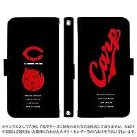 Xperia XZ SOV34 ケース [デザイン:23.坊RED&Black/マグネットハンドあり] カープ坊や カープ グッズ 広島東洋 手帳型 スマホケース カバー エクスペリア au sov34