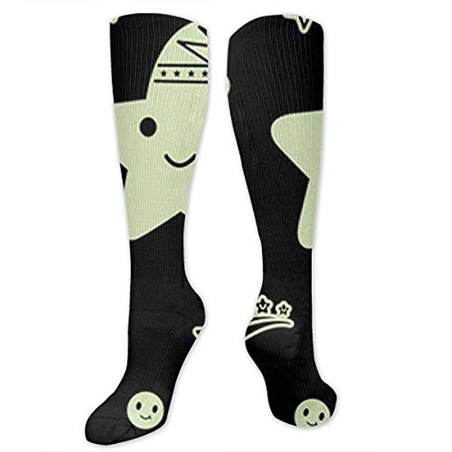 満足させる行為恐れる靴下,ストッキング,野生のジョーカー,実際,秋の本質,冬必須,サマーウェア&RBXAA Glow in The Dark Art Moon Star Socks Women's Winter Cotton Long Tube...