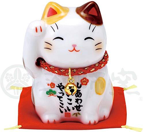 彩絵 福 招き猫(茶ぶち) 7532