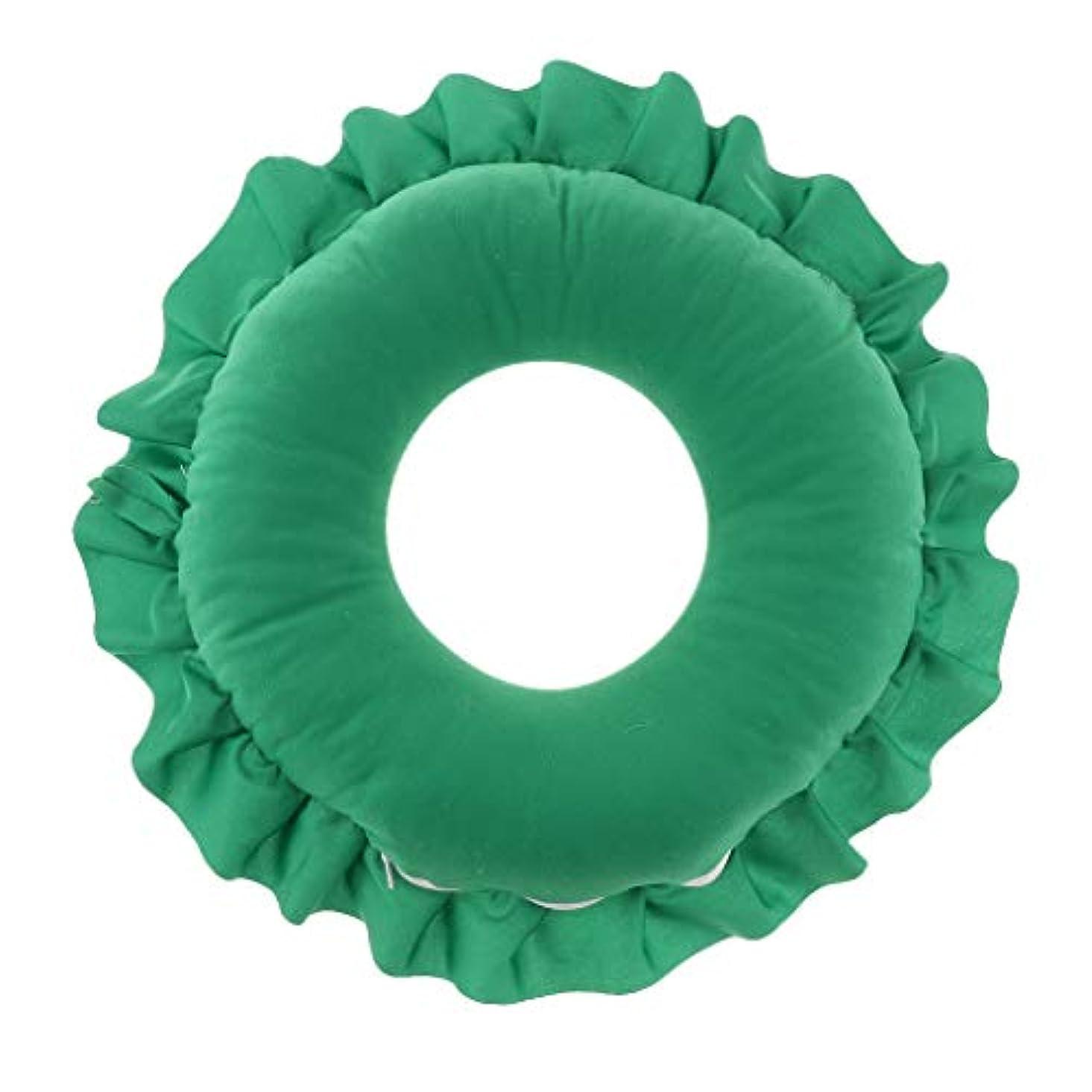 繕うスチュワーデス慈悲Fenteer フェイス枕 顔枕 マッサージ枕 マッサージピロー 美容院 柔らかい 快適 洗える 全4色 - 緑