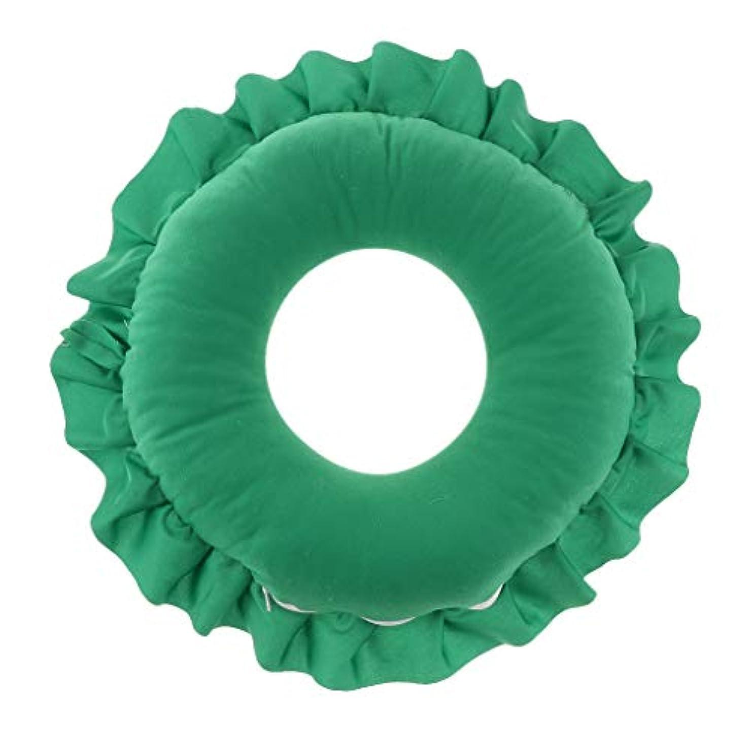 コーヒー粘液スーダンFenteer フェイス枕 顔枕 マッサージ枕 マッサージピロー 美容院 柔らかい 快適 洗える 全4色 - 緑