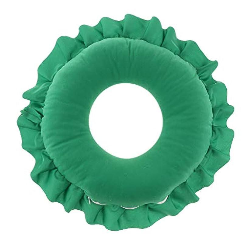 調和のとれた通信する経歴Fenteer フェイス枕 顔枕 マッサージ枕 マッサージピロー 美容院 柔らかい 快適 洗える 全4色 - 緑