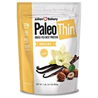 Paleo Protein Grass-Fed Beef Protein Powder with Probiotics, Vanilla Nut, 2 lbs by Julian Bakery