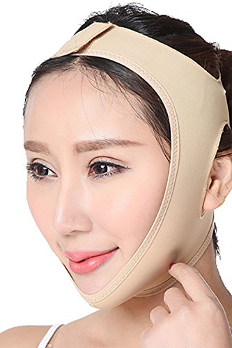 FeelinGirl 小顔補正ベルト 小顔マスク 豊齢線予防 小顔リフトアップベルトヌードS
