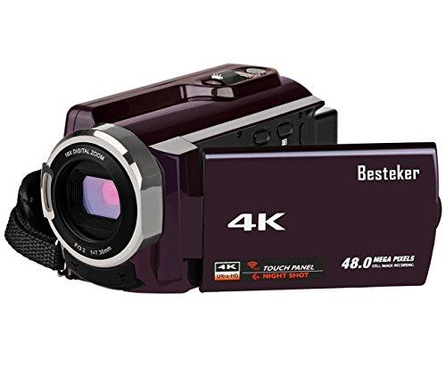ビデオカメラ Besteker デジタルビデオカメラ 4K ...