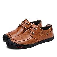 [HJKSDF] ローファー ソフト牛革 カジュアル メンズ フラットヒール ビジネスシューズ 防滑 通気 カジュアルシューズ 紳士靴 イギリス風 仕事 日常 オフィス 3カラー