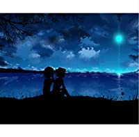 海の女の子と男の子5D Diamond Painting diyダイヤモンド絵画クラフトアクセサリークロスステッチとげを描く針仕事ダイヤモンド刺繍40×60センチ