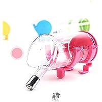 ACHICOO 自動給水器 ペットボトル用 350ML ペット用水ディスペンサー 吊り型 噴水ボトル ピンク