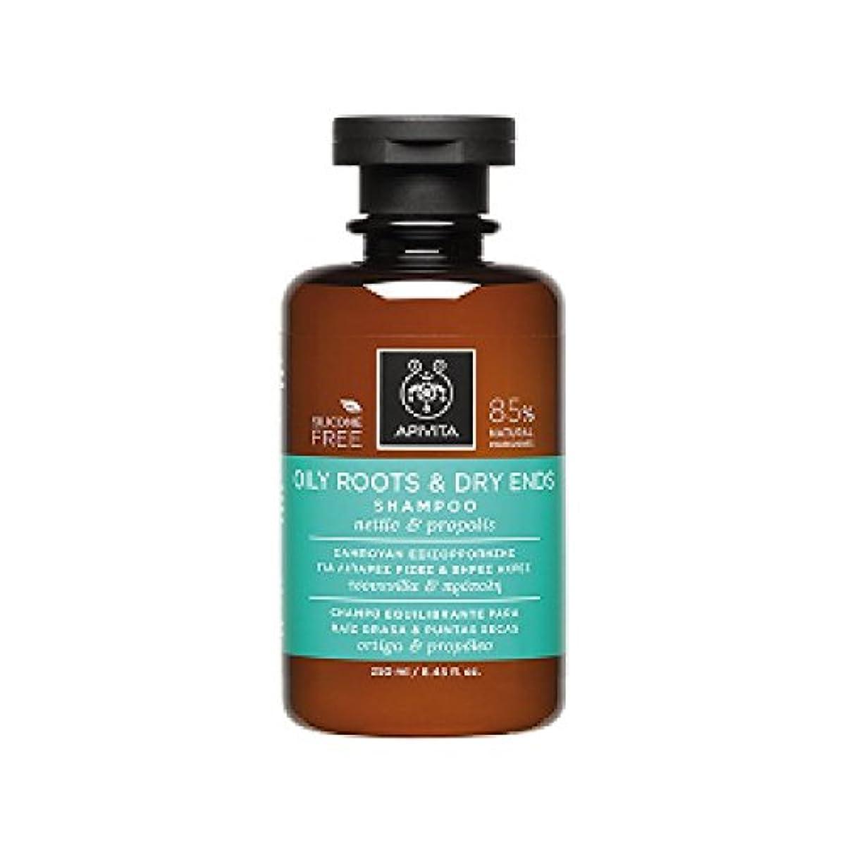 冒険者冷蔵庫副アピヴィータ Oily Roots & Dry Ends Shampoo with Nettle & Propolis (For Hair with Oily Roots and Dry Ends) 250ml [並行輸入品]