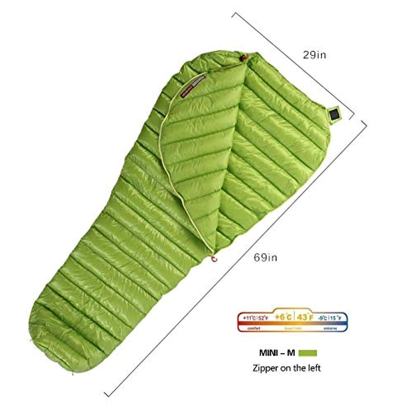焦がすシンプルな常習的WIND HARD Goose Down Sleeping Bag Ultralight Mummy Bag with Lightweight Compression Sack 800 Fill Power 11 Degree 52F [並行輸入品]