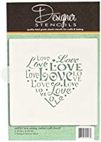 Love Saying Cookie and Craft Stencil CM044 by Designer Stencils