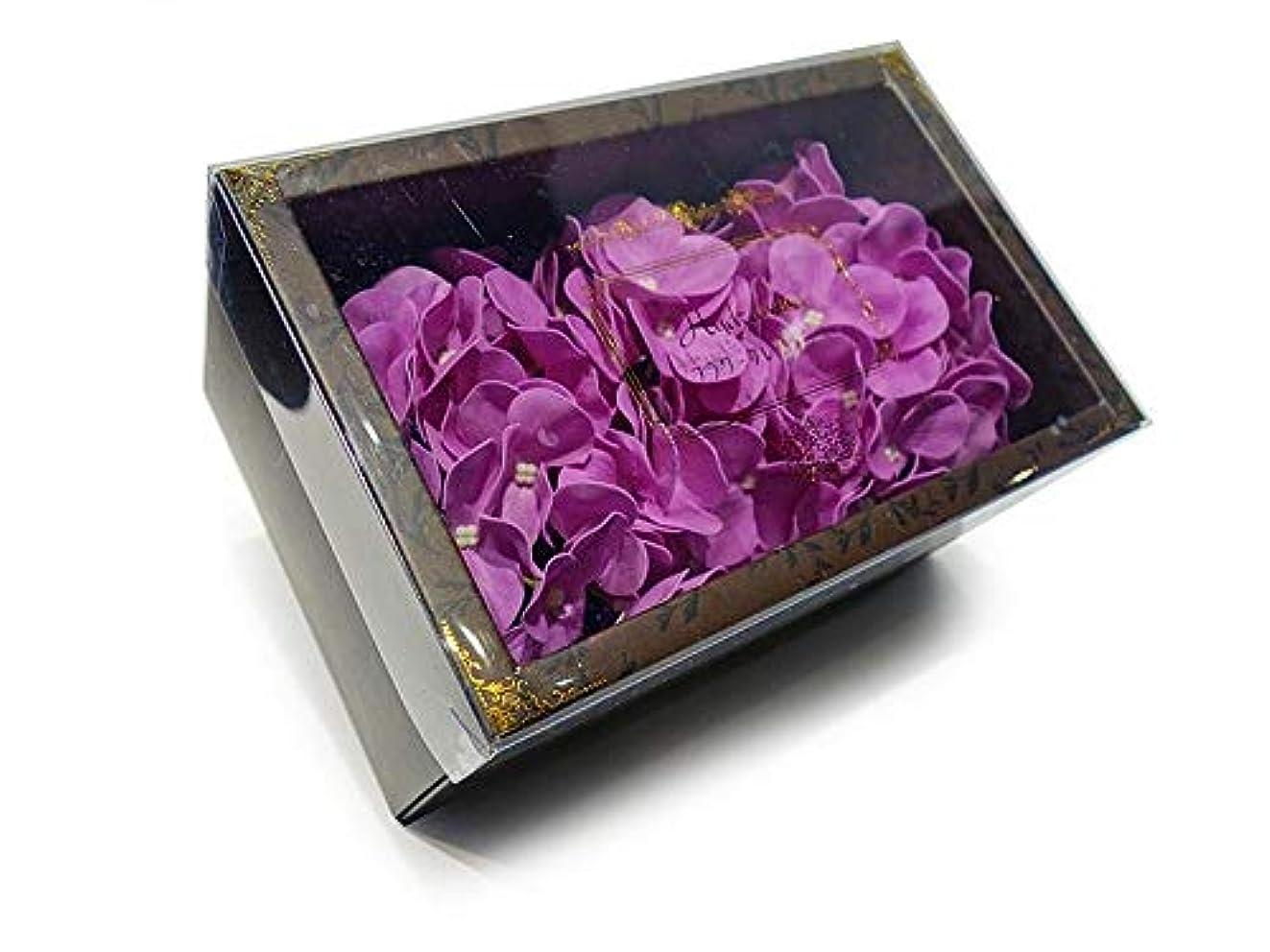 クレジットフラスコマーキー花のカタチの入浴剤 アジサイ バスフレグランス フラワーフレグランス バスフラワー (パープル)