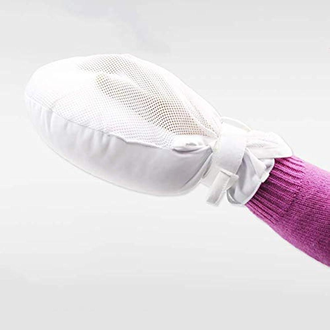 バース公式慎重に厚く暖かいフィンガーコントロールミット、手に感染した保護パッドグローブ、安全制限付きグローブ、安全で普遍的な成人向けの指の負傷の固定グローブ (2PCS)