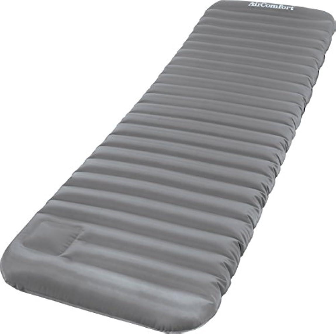 エンドウ店員半島Inflatable Bed Mattress Air Comfort Roll and Go Inflatable Sleeping Pad, Large, Grey