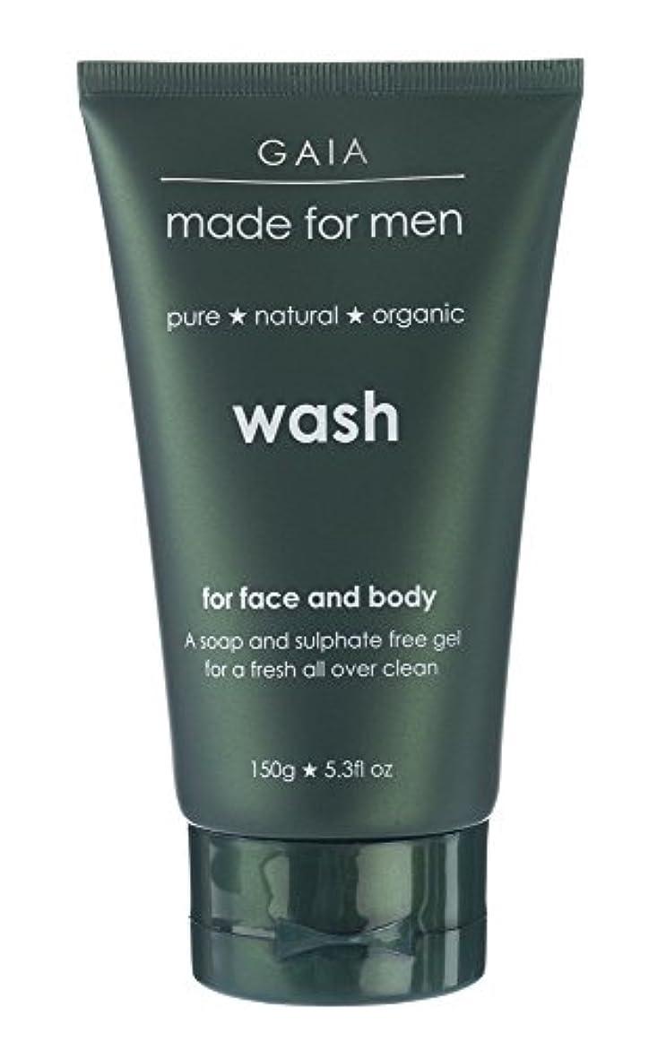 意気込み誠意噴水【GAIA】Face & Body Wash made for men ガイア メンズ フェイス&ボディウォッシュ 150g 3本セット
