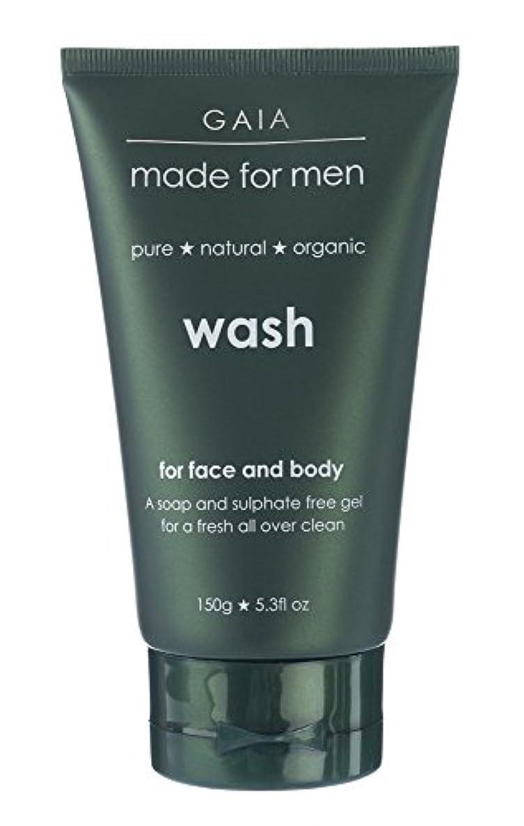 逸話鉄満たす【GAIA】Face & Body Wash made for men ガイア メンズ フェイス&ボディウォッシュ 150g 3本セット