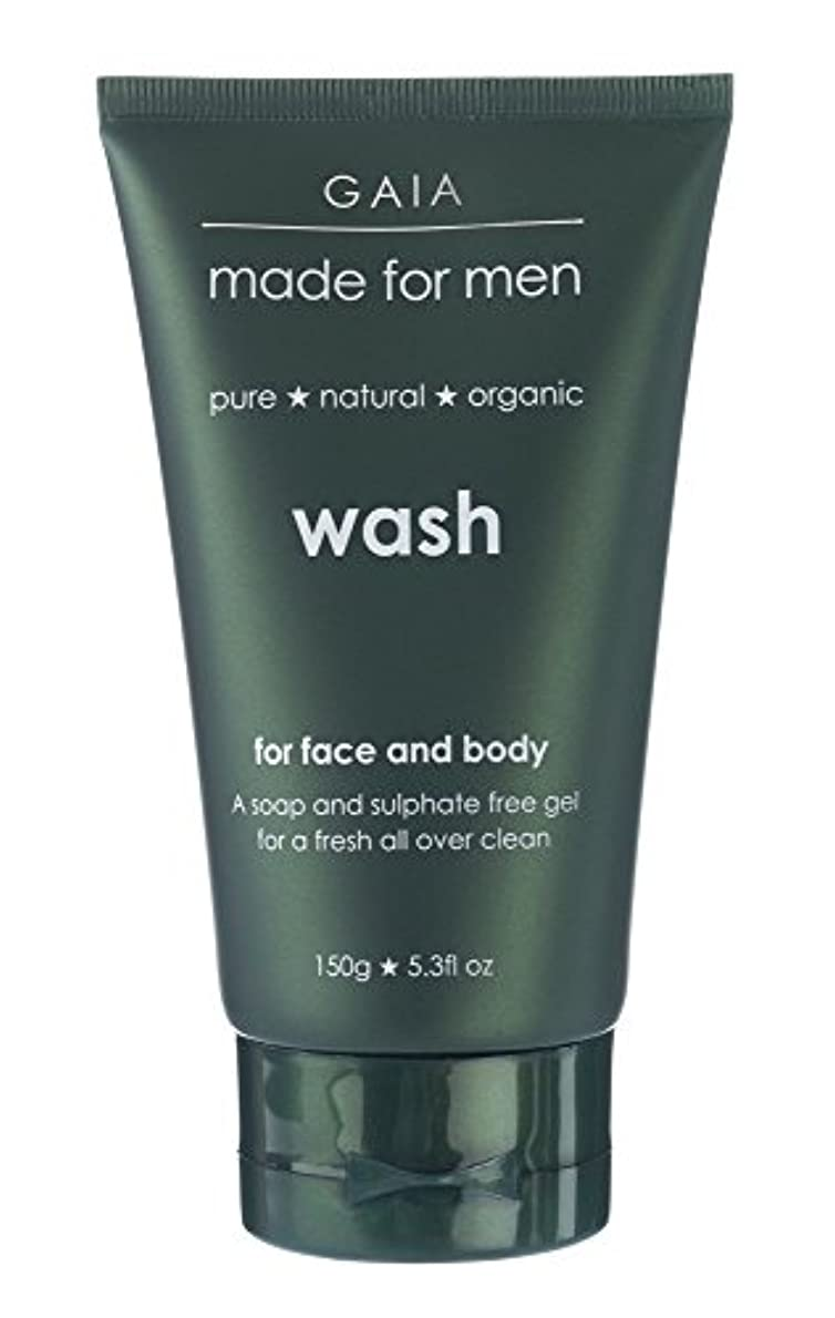 道徳の群がる上流の【GAIA】Face & Body Wash made for men ガイア メンズ フェイス&ボディウォッシュ 150g 3本セット