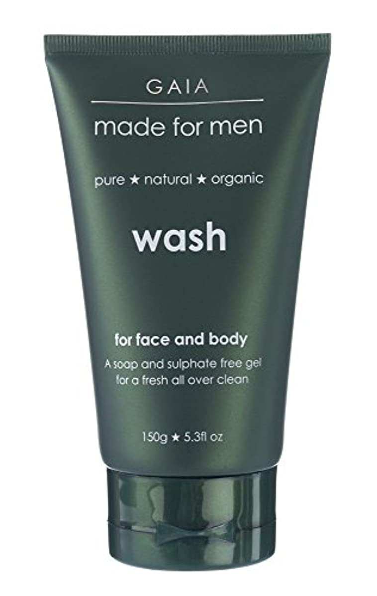 バーベキュー丘泣き叫ぶ【GAIA】Face & Body Wash made for men ガイア メンズ フェイス&ボディウォッシュ 150g 3本セット