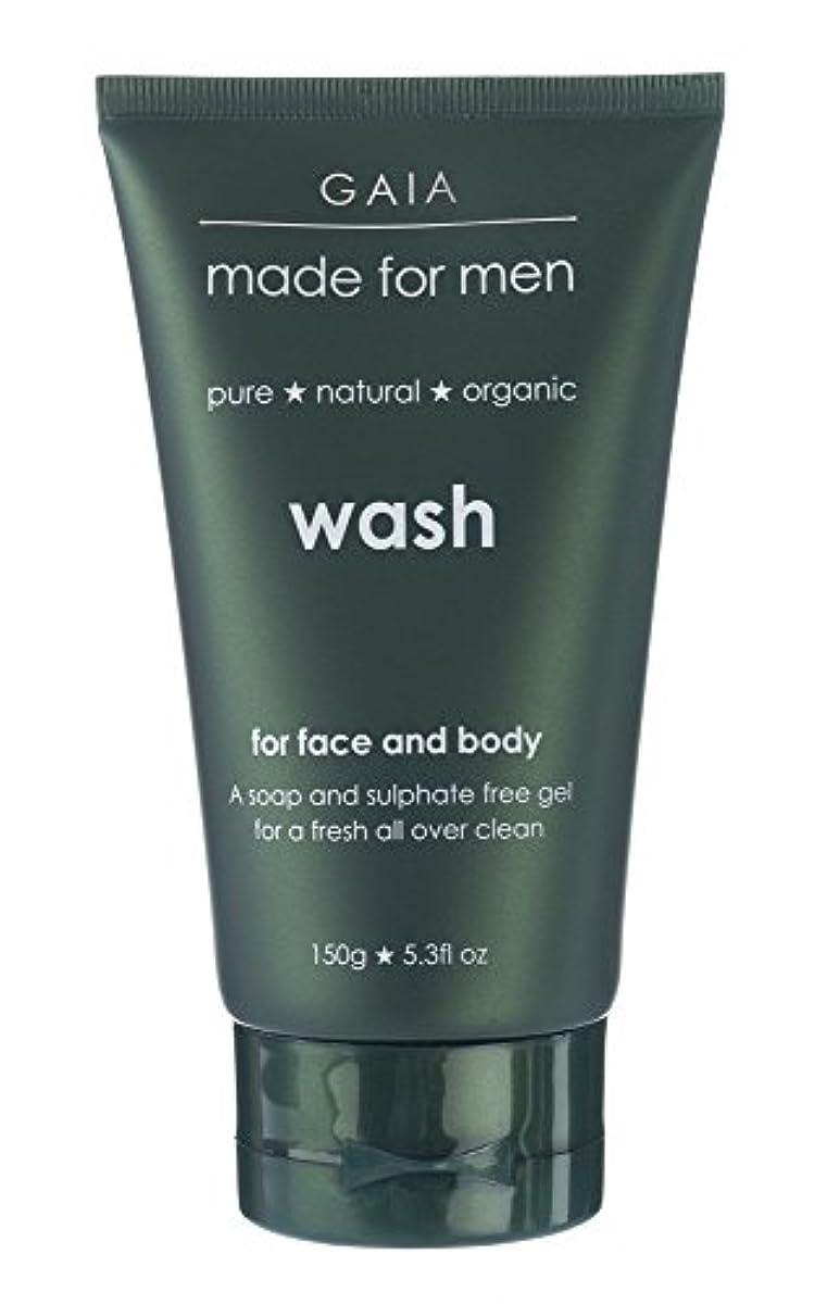 恒久的レパートリー食用【GAIA】Face & Body Wash made for men ガイア メンズ フェイス&ボディウォッシュ 150g